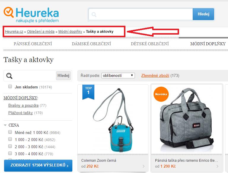 Categorytext Heureka